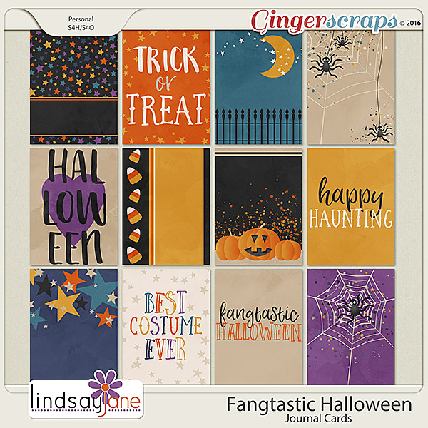 Fangtastic Halloween Journal Cards by Lindsay Jane