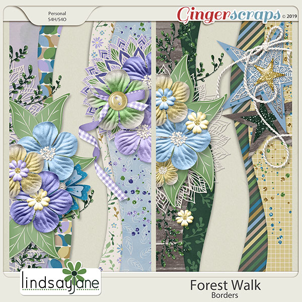 Forest Walk Borders by Lindsay Jane