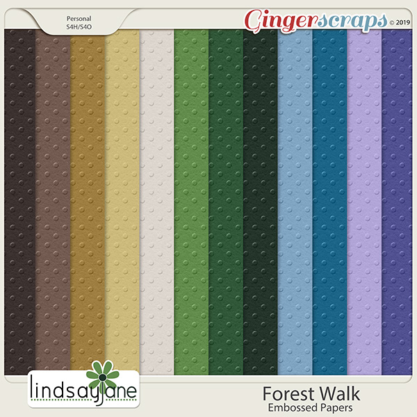 Forest Walk Embossed Papers by Lindsay Jane
