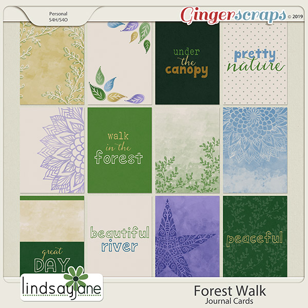 Forest Walk Journal Cards by Lindsay Jane