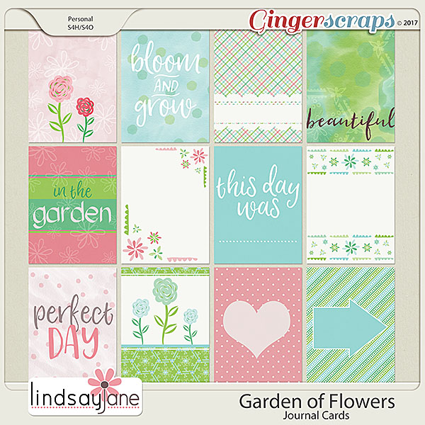 Garden of Flowers Journal Cards by Lindsay Jane