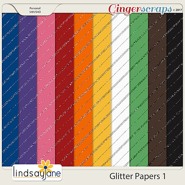 Glitter Papers 1 by Lindsay Jane