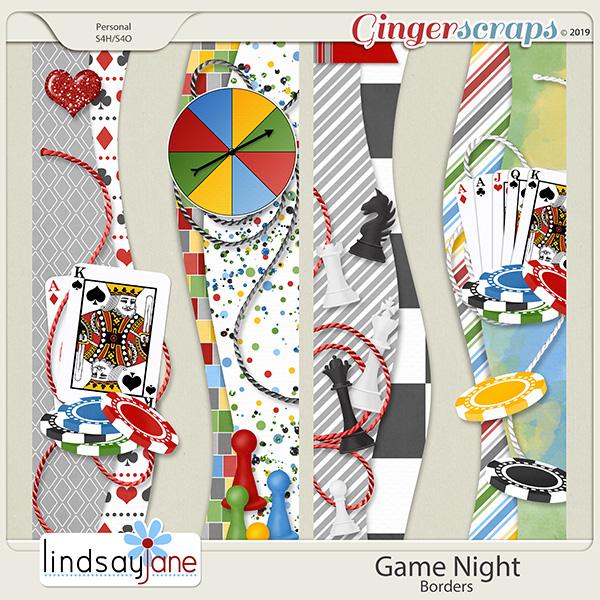 Game Night Borders by Lindsay Jane