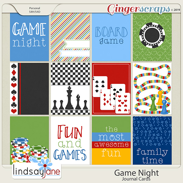 Game Night Journal Cards by Lindsay Jane