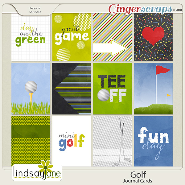Golf Journal Cards by Lindsay Jane