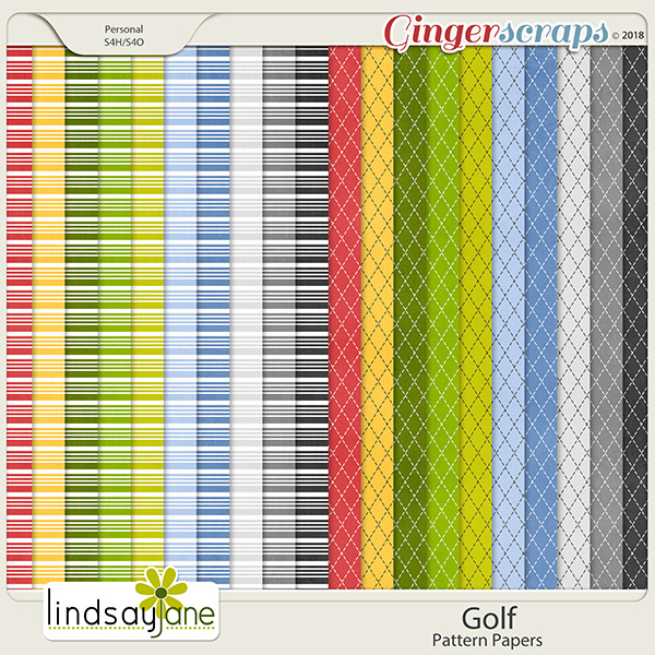 Golf Pattern Papers by Lindsay Jane