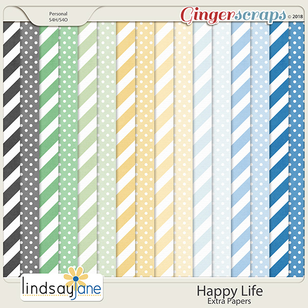 Happy Life Extra Papers by Lindsay Jane