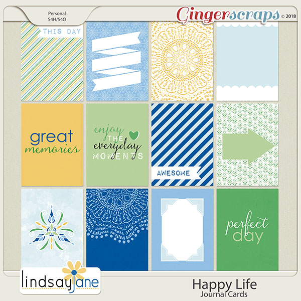 Happy Life Journal Cards by Lindsay Jane
