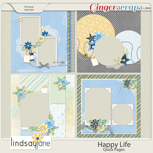 Happy Life Quick Pages by Lindsay Jane