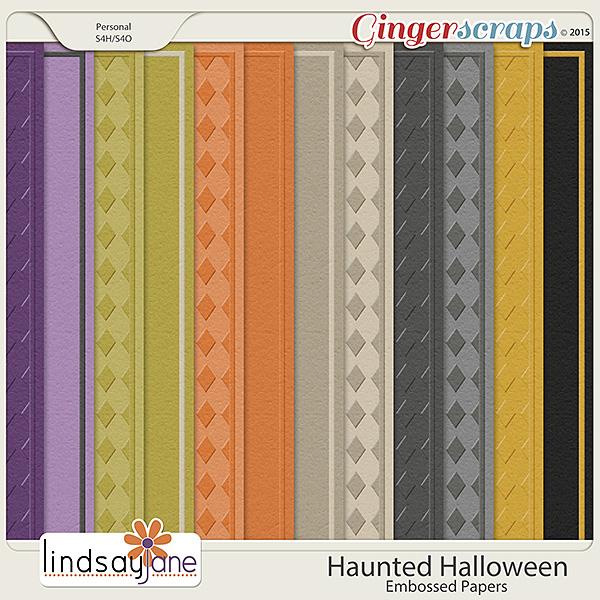 Haunted Halloween Embossed Papers by Lindsay Jane