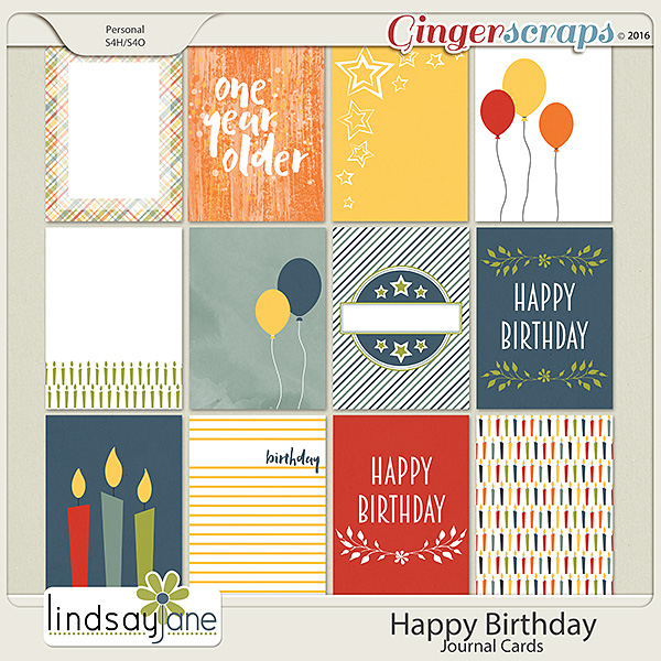 Happy Birthday Journal Cards by Lindsay Jane