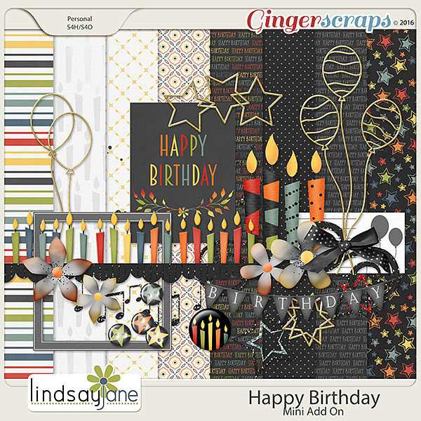 Happy Birthday Mini Kit by Lindsay Jane