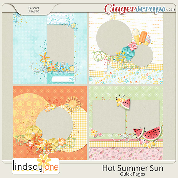Hot Summer Sun Quick Pages by Lindsay Jane