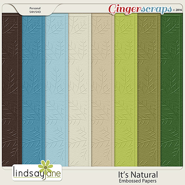 Its Natural Embossed Papers by Lindsay Jane