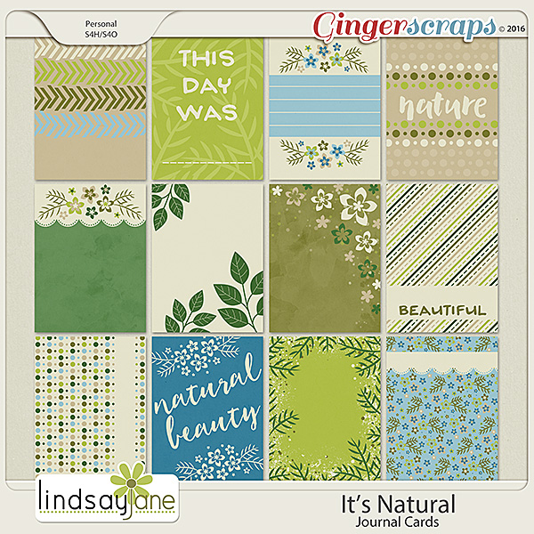 Its Natural Journal Cards by Lindsay Jane