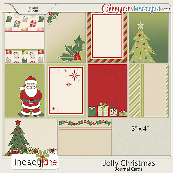 Jolly Christmas Journal Cards by Lindsay Jane