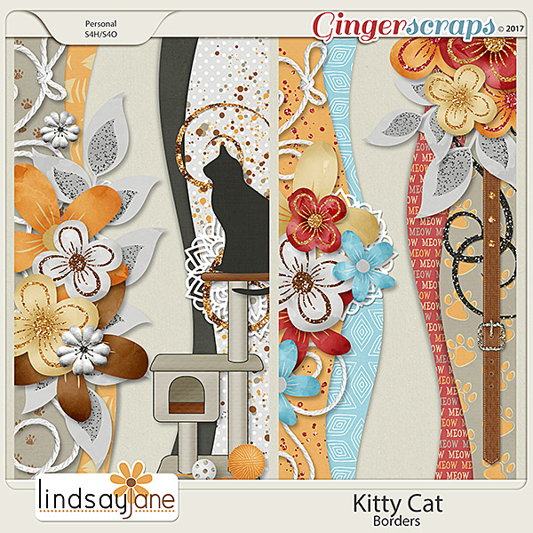 Kitty Cat Borders by Lindsay Jane