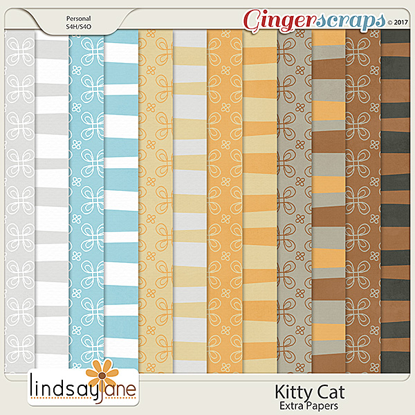 Kitty Cat Extra Papers by Lindsay Jane