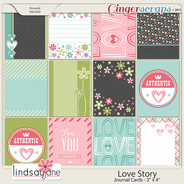 Love Story Journal Cards by Lindsay Jane