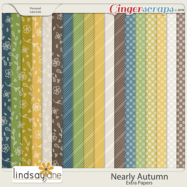 Nearly Autumn Extra Papers by Lindsay Jane