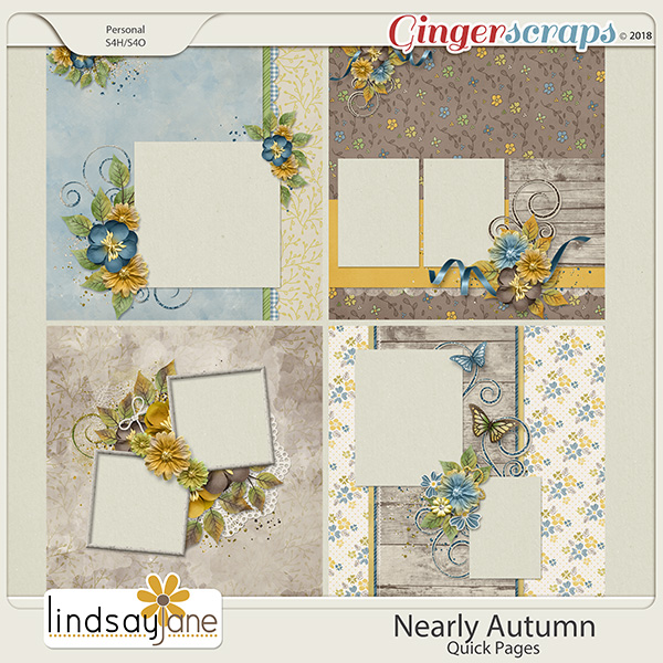 Nearly Autumn Quick Pages by Lindsay Jane