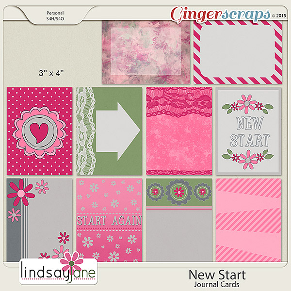 New Start Journal Cards by Lindsay Jane