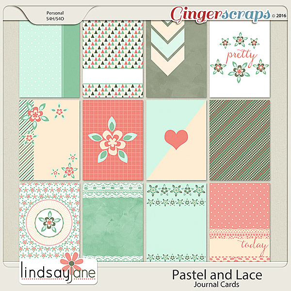 Pastel and Lace Journal Cards by Lindsay Jane