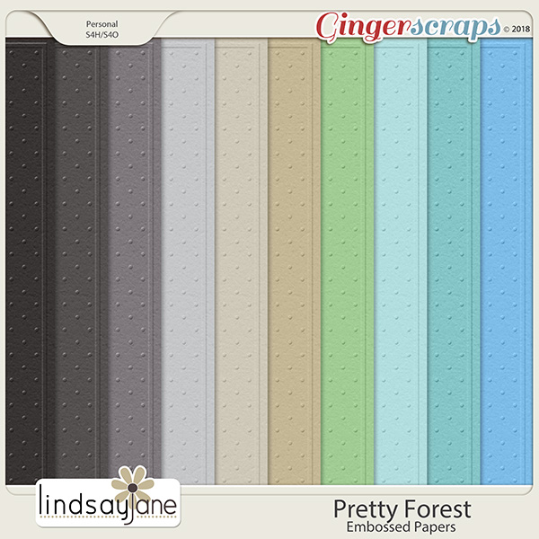 Pretty Forest Embossed Papers by Lindsay Jane