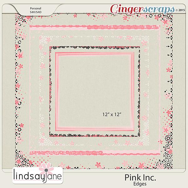 Pink Inc Edges by Lindsay Jane