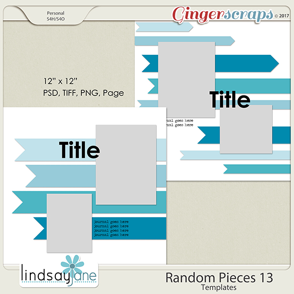Random Pieces 13 Templates by Lindsay Jane