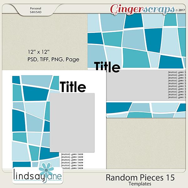 Random Pieces 15 Templates by Lindsay Jane