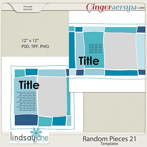 Random Pieces 21 Templates by Lindsay Jane