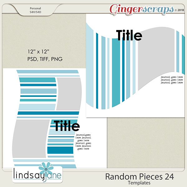 Random Pieces 24 Templates by Lindsay Jane