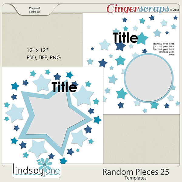 Random Pieces 25 Templates by Lindsay Jane
