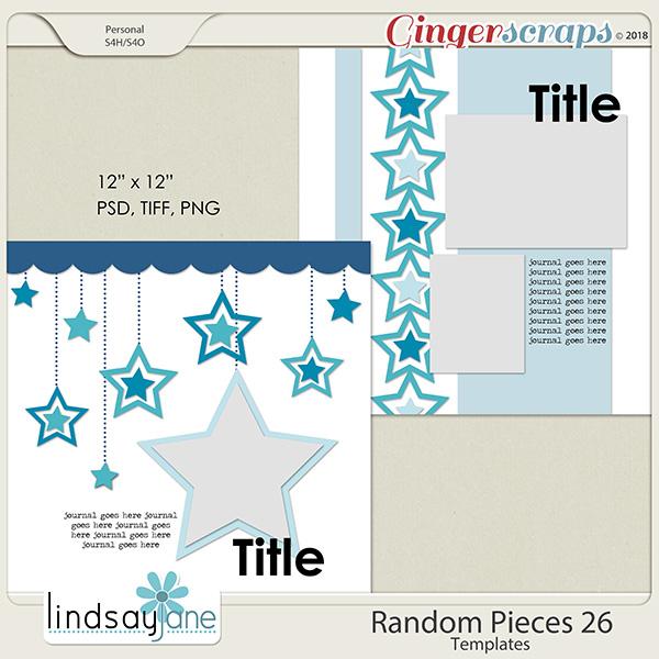 Random Pieces 26 Templates by Lindsay Jane