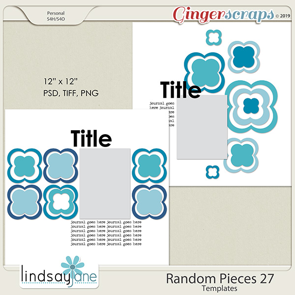 Random Pieces 27 Templates by Lindsay Jane