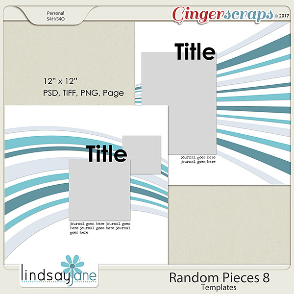 Random Pieces 8 Templates by Lindsay Jane