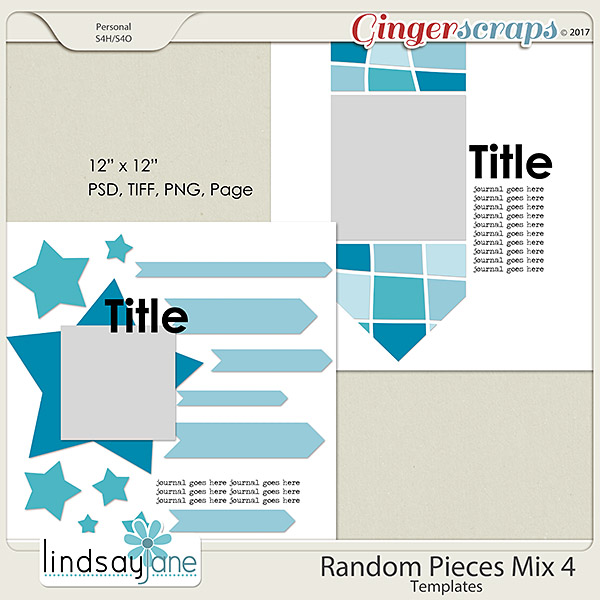 Random Pieces Mix 4 Templates by Lindsay Jane