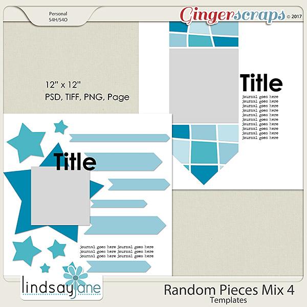 Random Pieces Mix 4 Templates by Lindsay Jane