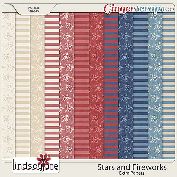 Stars and Fireworks Extra Papers by Lindsay Jane