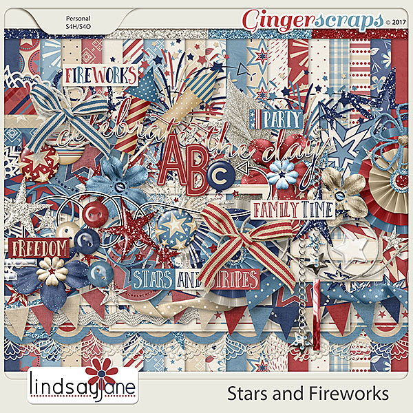 Stars and Fireworks by Lindsay Jane