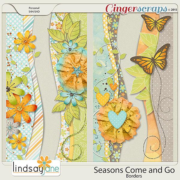 Seasons Come and Go Borders by Lindsay Jane