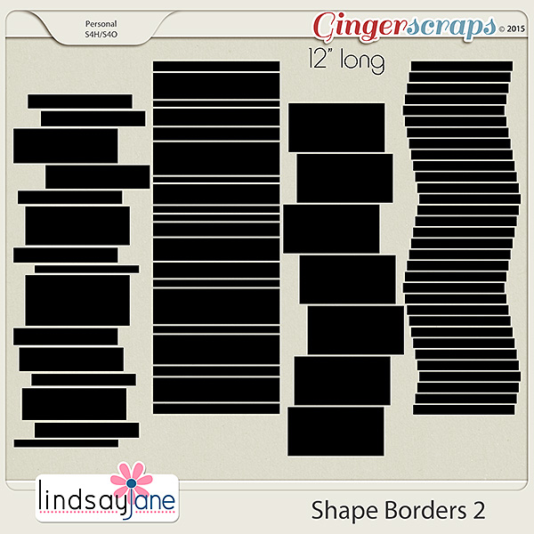 Shape Borders 2 by Lindsay Jane