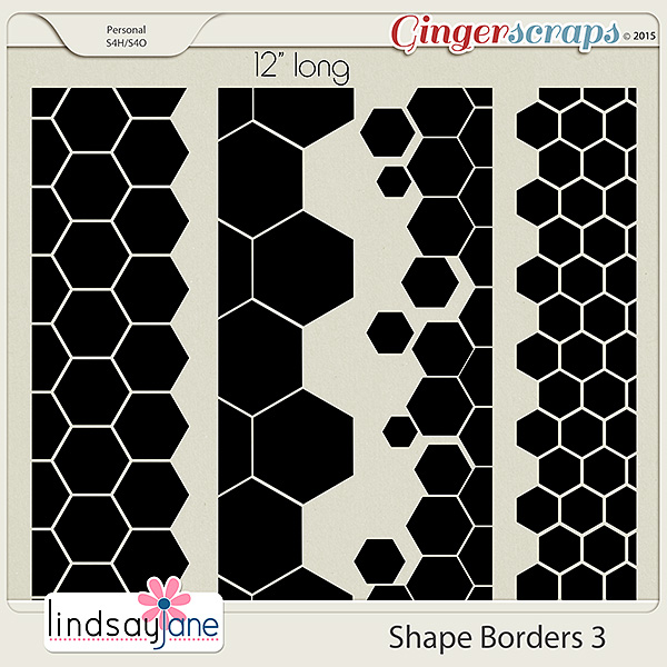 Shape Borders 3 by Lindsay Jane
