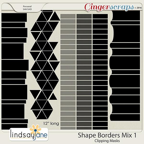 Shape Borders Mix 1 by Lindsay Jane