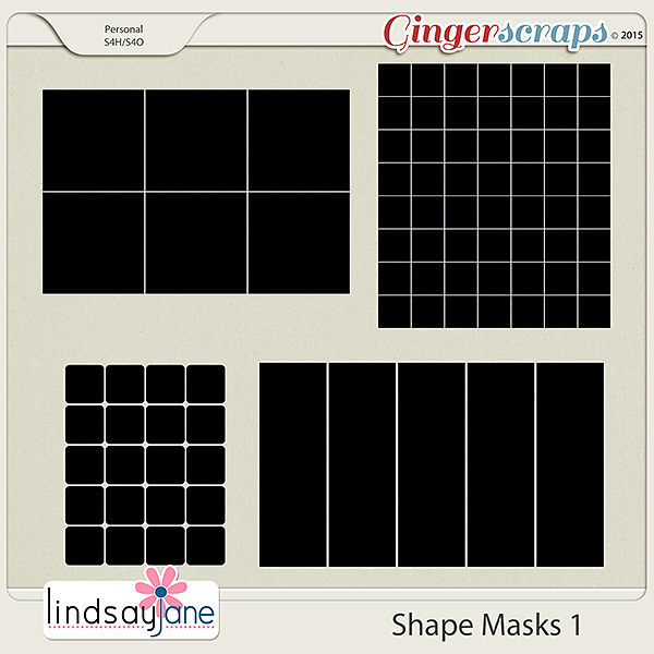 Shape Masks 1 by Lindsay Jane