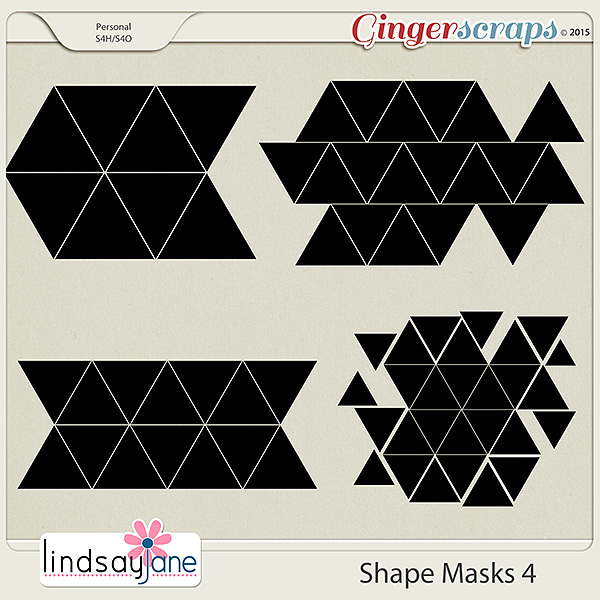 Shape Masks 4 by Lindsay Jane