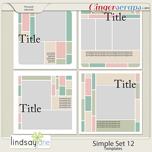 Simple Set 12 Templates by Lindsay Jane