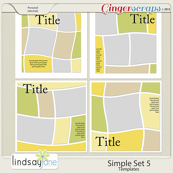 Simple Set 5 Templates by Lindsay Jane