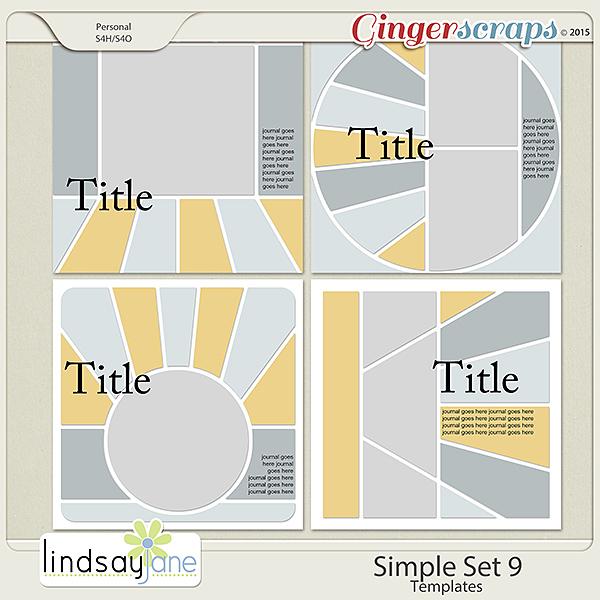 Simple Set 9 Templates by Lindsay Jane